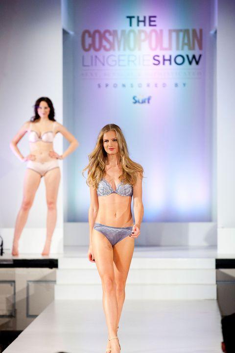 Leg, Skin, Human leg, Shoulder, Fashion show, Joint, Brassiere, Waist, Fashion model, Thigh,