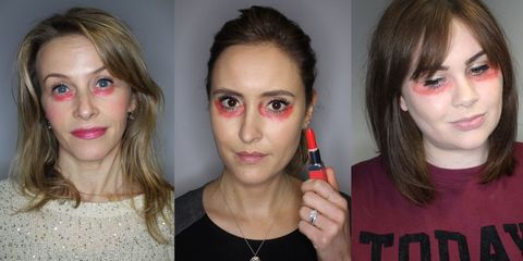 Is orange-red lipstick really the answer to concealing dark circles?