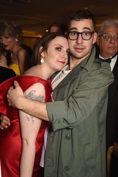 Jack Antonoff and Lena Dunham at the Grammys