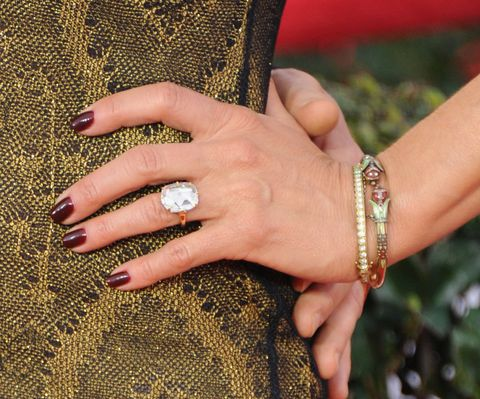 Celebrity engagement rings - biggest and best engagement rings