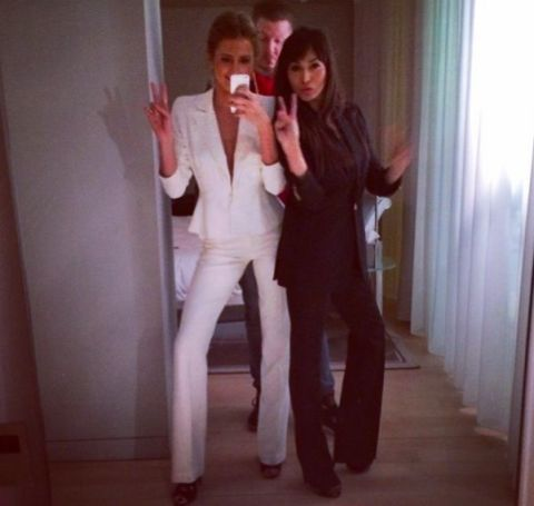 Celebrities wearing suits - Millie Mackintosh