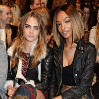 Cara Delevingne and Jourdan Dunn at Burberry AW15