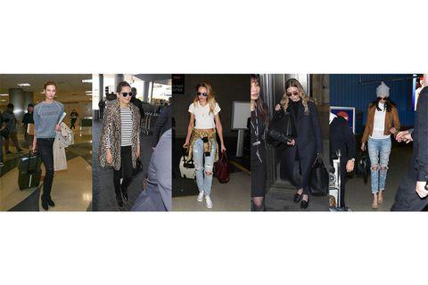 Karlie Kloss Victoria Secret angel airport Candice Swanepoel Kendall Jenner