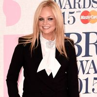 Emma Bunton wears a suit to the BRIT Awards 2015
