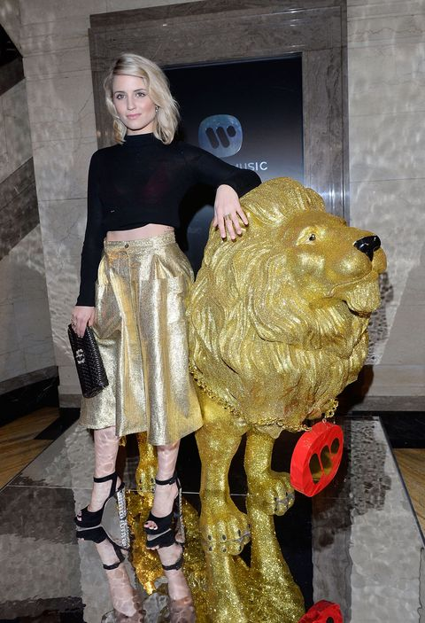 Dianna Agron at the BRIT after-parties