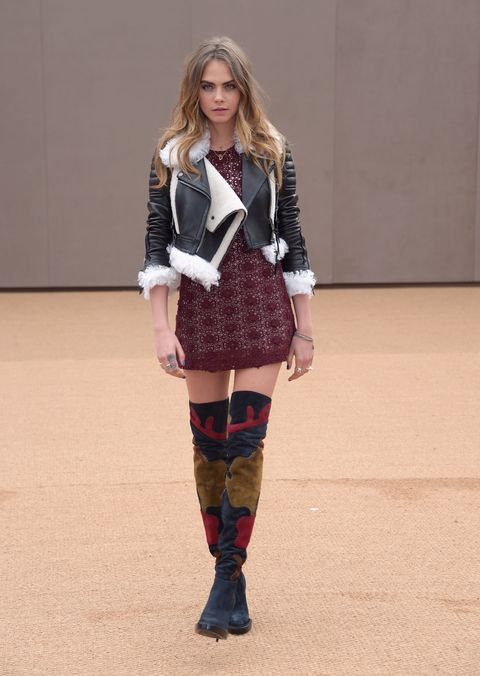 London Fashion Week AW15: what the celebrities are wearing on the front row - Cara Delevingne