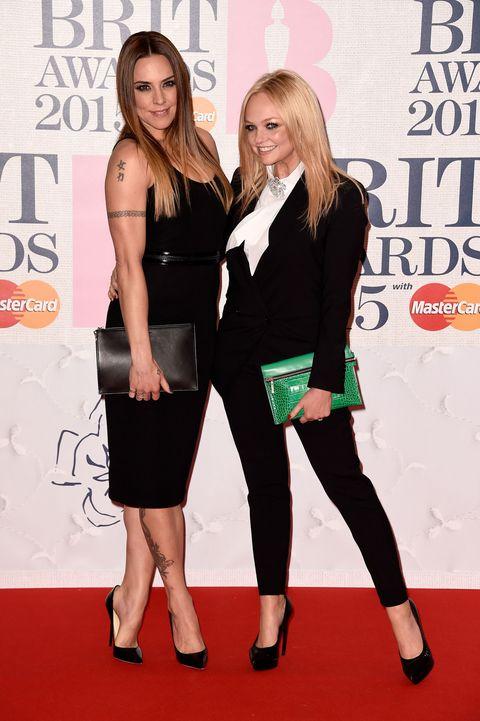 Mel C and Emma Bunton at the Brit awards 2015