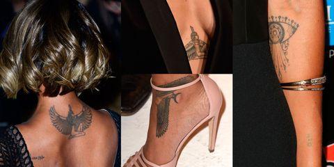 Pretty celebrity tattoos on black skin tones