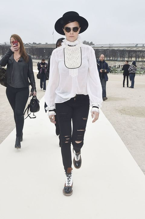 Cara Delevingne at Paris Fashion Week