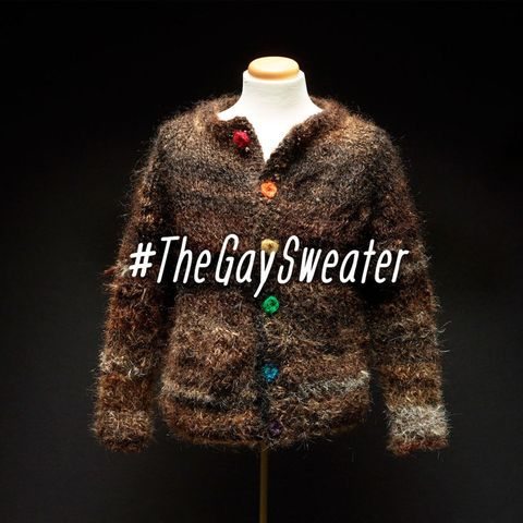 This sweater is SO gay. Literally. It's made from the hair of gay people.
