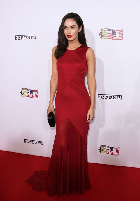 Megan Fox on the red carpet at Ferrari's 60th Anniversary