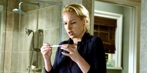 Katherine Heigl pregnancy test scene in Knocked Up