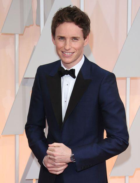 Eddie Redmayne at the 2015 Academy Awards