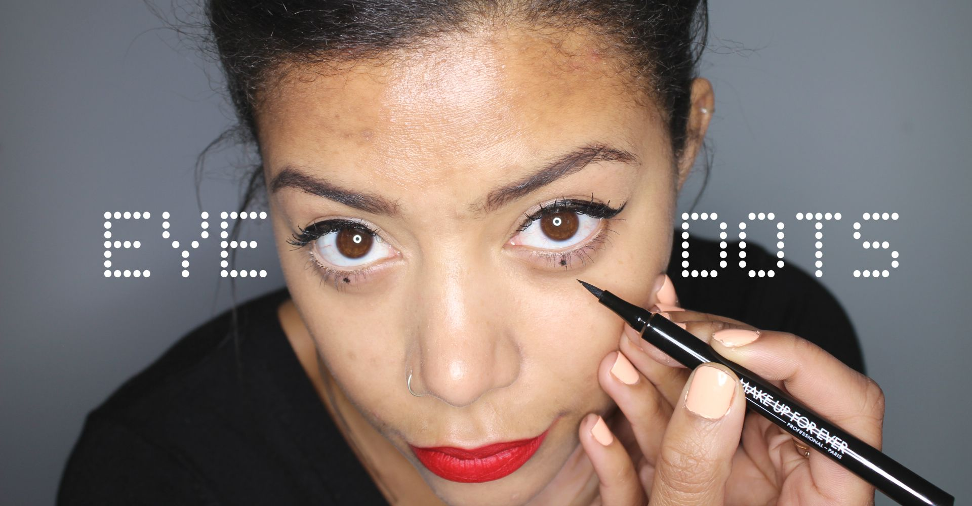 Makeup trend: How to do eye dots