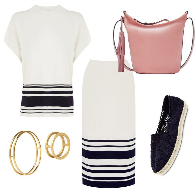 What to wear to work now it's hot: sailor inspired co-ord