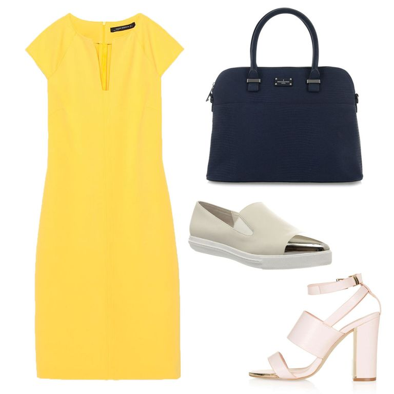 What to wear to work in the summer: a colourful shift dress