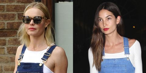 Kate Bosworth and Lily Aldridge make a case for denim dungarees