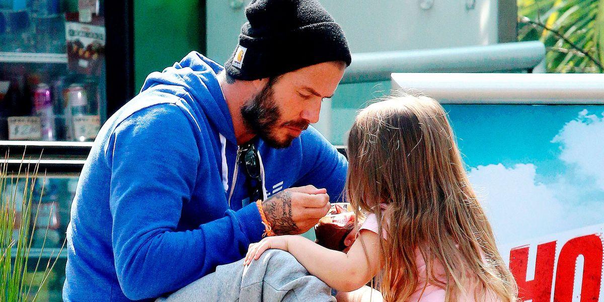 David Beckhams Got A New Tattoo From 4 Yr Old Harper Bold
