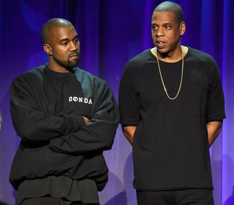 Jay Z and Kanye West at the Tidal launch party in New York