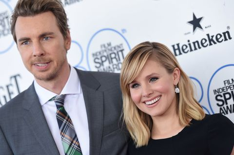 Kristen Bell and Dax Shepard at the Independent Spirit Awards