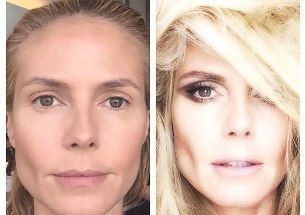 Heidi Klum shares makeup transformation