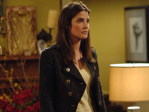 Cobie Smulders as Robin in How I Met Your Mother