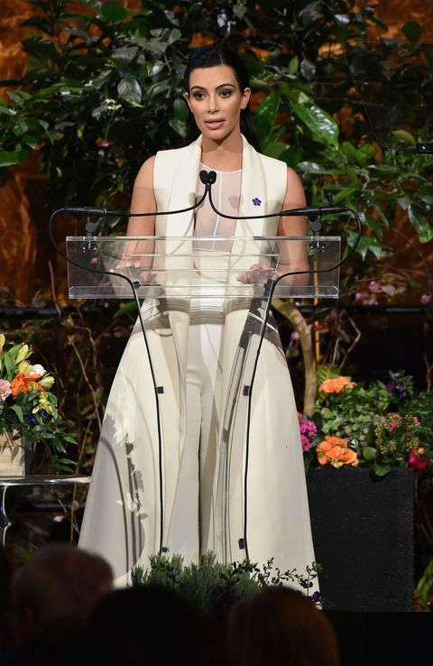 Kim Kardashian West speaking at the Variety Power of Women event hosted by Lifetime, in New York, April 2015