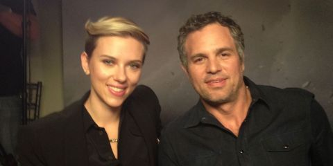 The Avengers' Scarlett Johansson and Mark Ruffalo answer each-others's gender-stereotypical questions