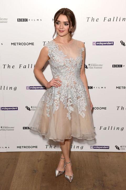 Arya Stark wore THE most beautiful prom dress to her film screening