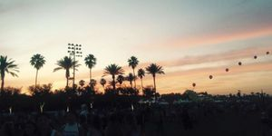 Sunset at Coachella festival 2015