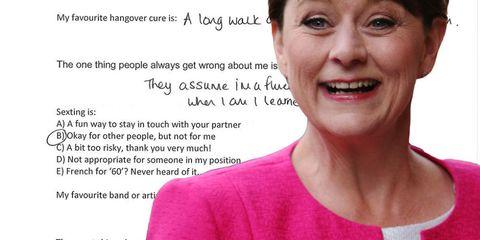 Plaid Cymru's Leanne Wood takes the Cosmo Quiz