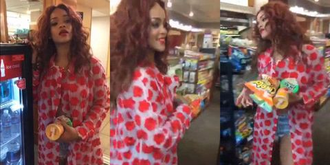 """Rihanna goes on the biggest """"munchies"""" shop of ALL time"""