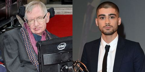 Stephen Hawking gives advice on how to get over Zayn Malik quitting One Direction
