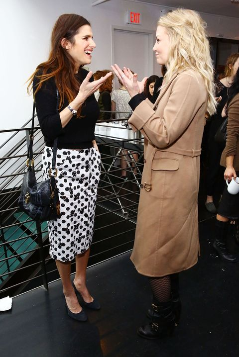 Lake Bell and Jennifer Morrison at the women in film party