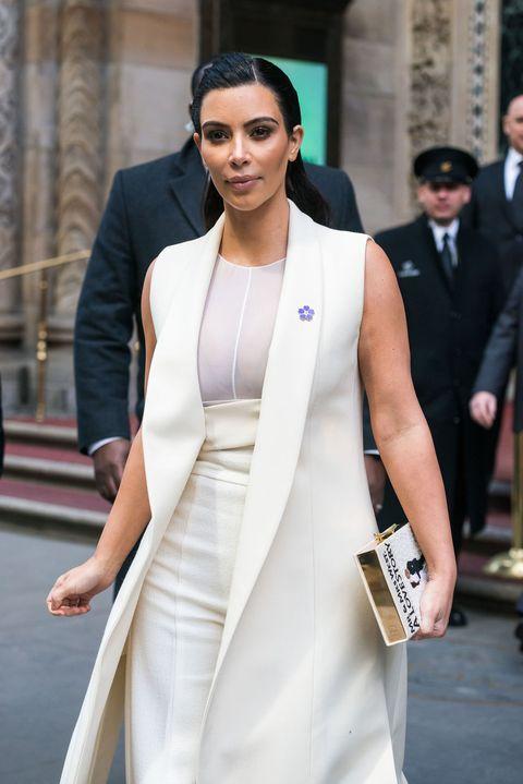 Kim Kardashian in all-white