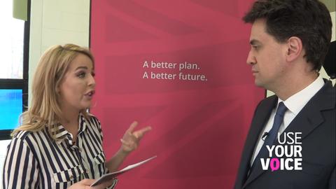 Lydia Bright meets Ed Miliband