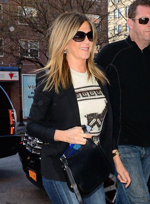 Jennifer Aniston wearing sunglasses in New York