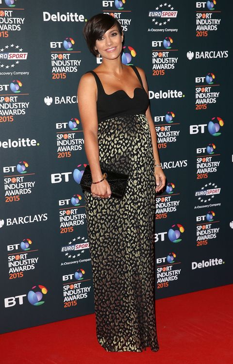 Frankie Bridge dresses her bump in loads of lovely leopard print