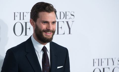 Jamie Dornan and his beard walk the red carpet at the Fifty Shades of Grey UK premiere in London