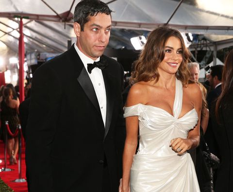 Nick Loeb and Sofia Vergara on the red carpet at the Oscars