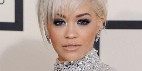 Rita Ora metallic makeup