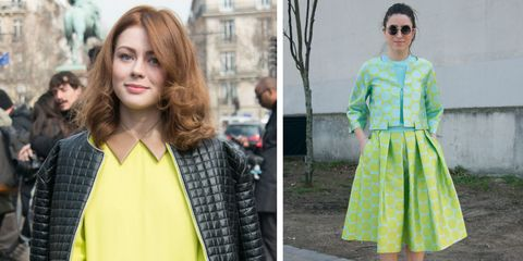 How to wear lime green without looking like a lime