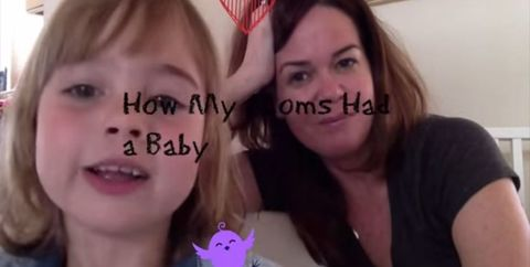 Little girl explains how her lesbian mothers came to have a baby