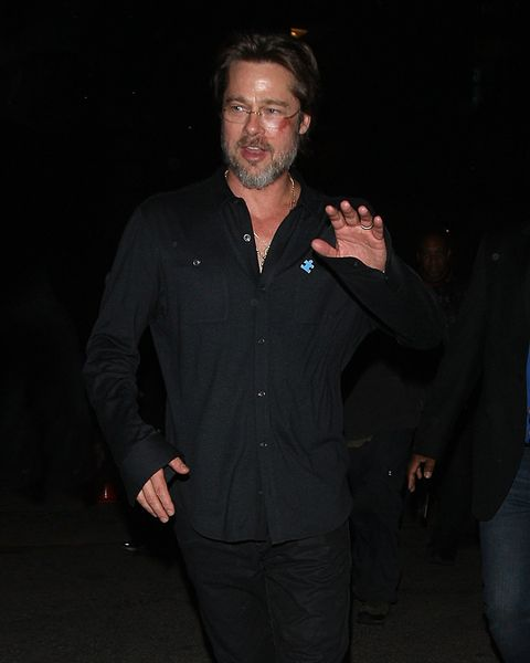 This is why Brad Pitt has a massive bruise on his beautiful face
