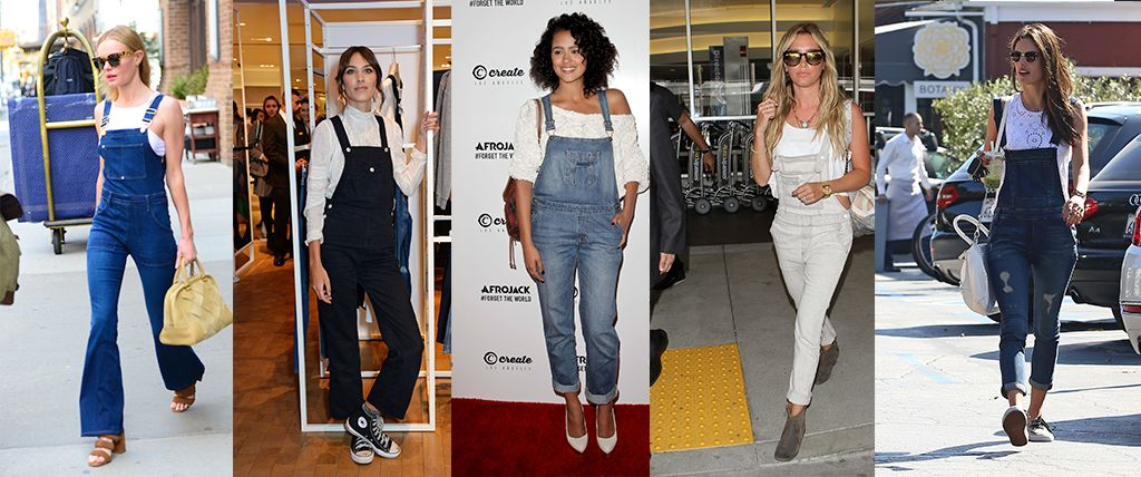 328134eb997 How to wear dungarees - celebrity dungaree style inspiration