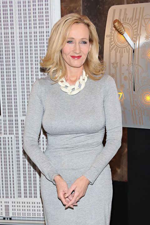 JK Rowling at the Empire State Building