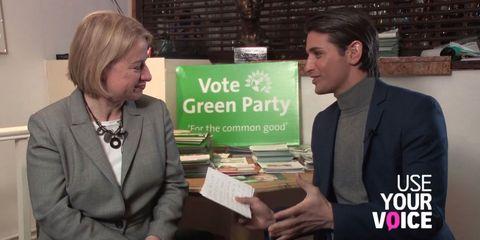 What happened when Ollie Locke met The Green Party's Natalie Bennett?