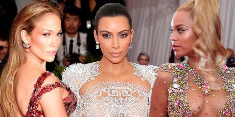 Jennifer Lopez, Kim Kardashian and Beyonce at the 2015 Met Gala