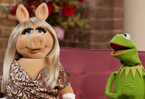 Miss Piggy and Kermit the frog join the muppets for This Morning