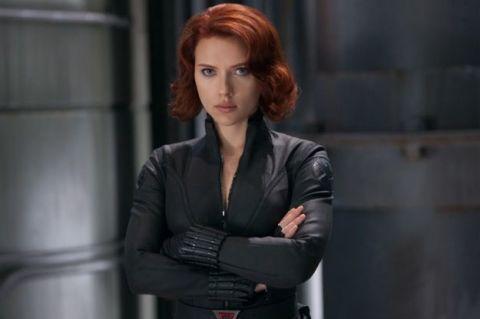 scarlett johansson as black widow in marvel the avengers lookalike